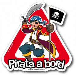 Pirata a bord (boy) - Stickers
