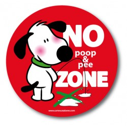 No poop & pee Zone - Sticker
