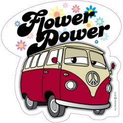 Flower Power - Autocolante