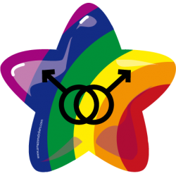 Gay Star - Sticker