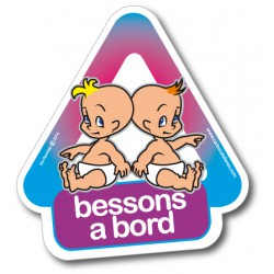 Bessons a bord- Pegatina...